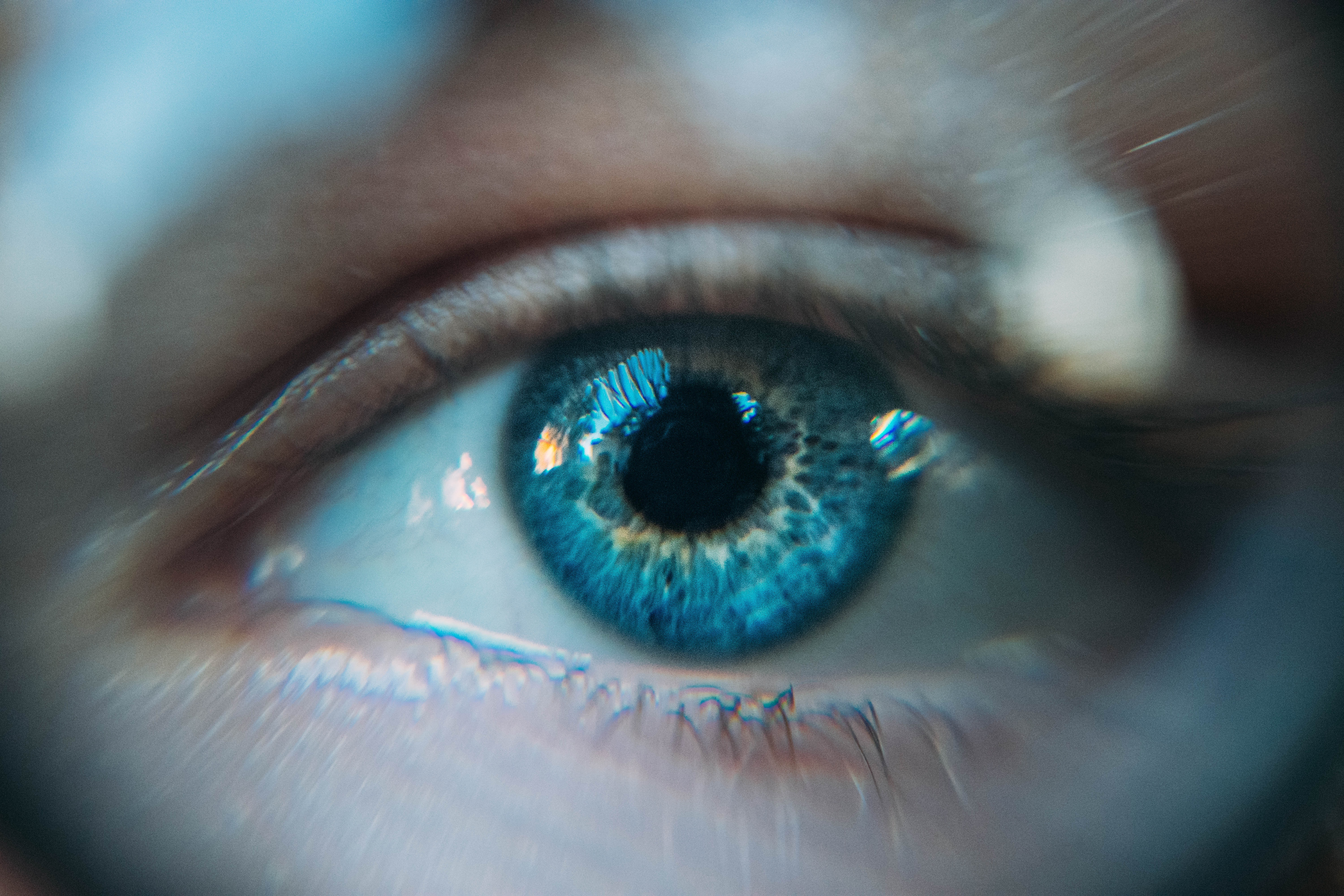 eye that is being recorded by an eye trracking technology