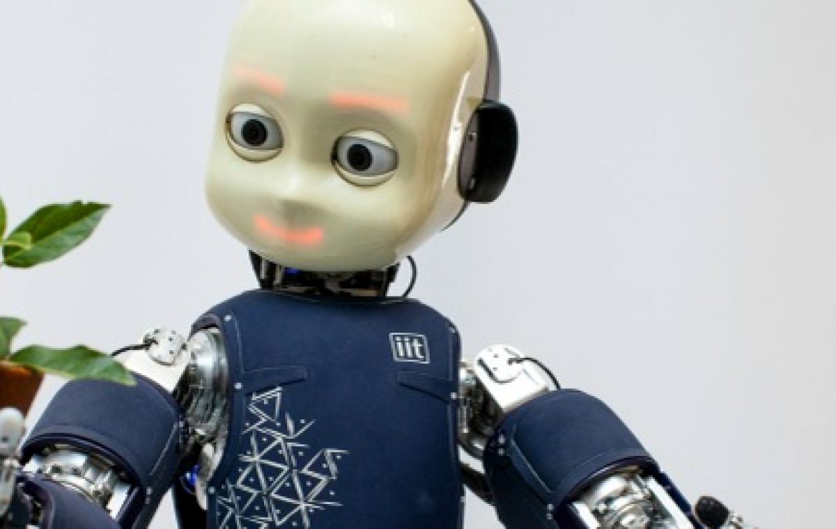 Robot that is a machine with artificial intelligence that can feel emotions when interacting with humans