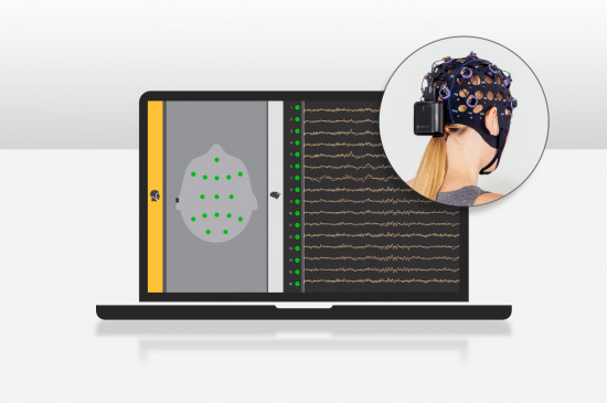 EEG system que es wearable y wireless para la monitorización de la señal cerebral en salud, investigación y neuromarketing